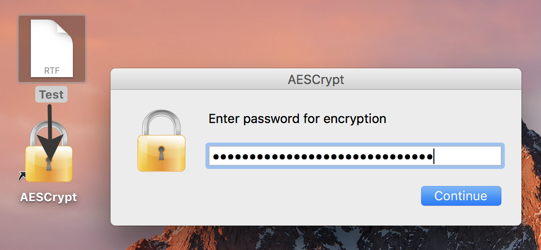 AES Crypt macOS encryption