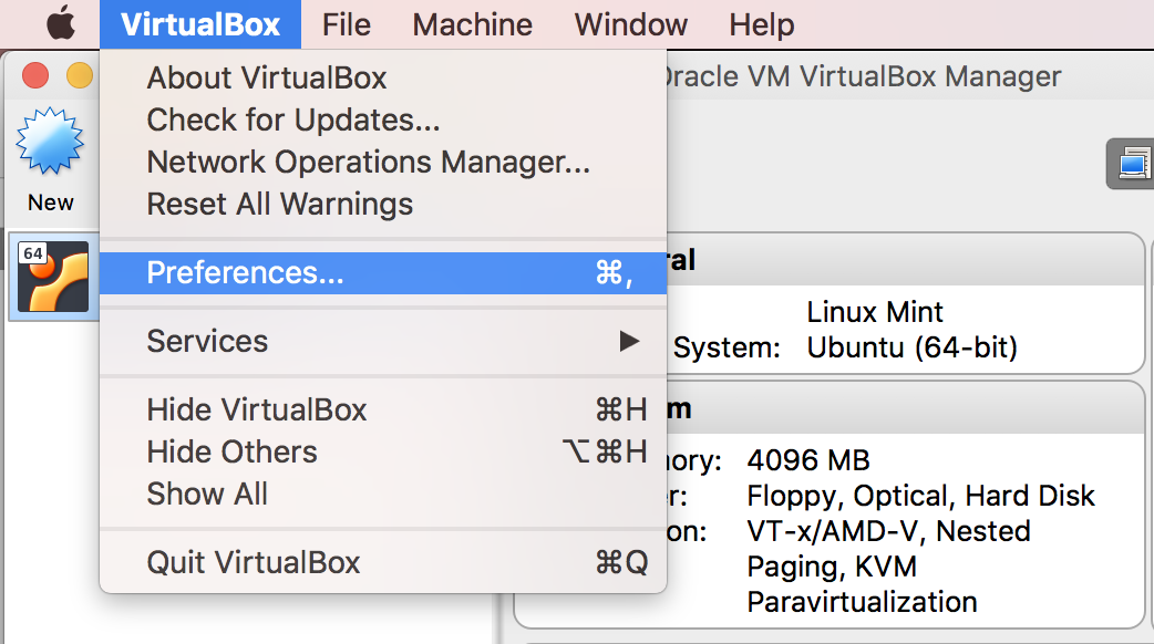 VirtualBox logs macOS