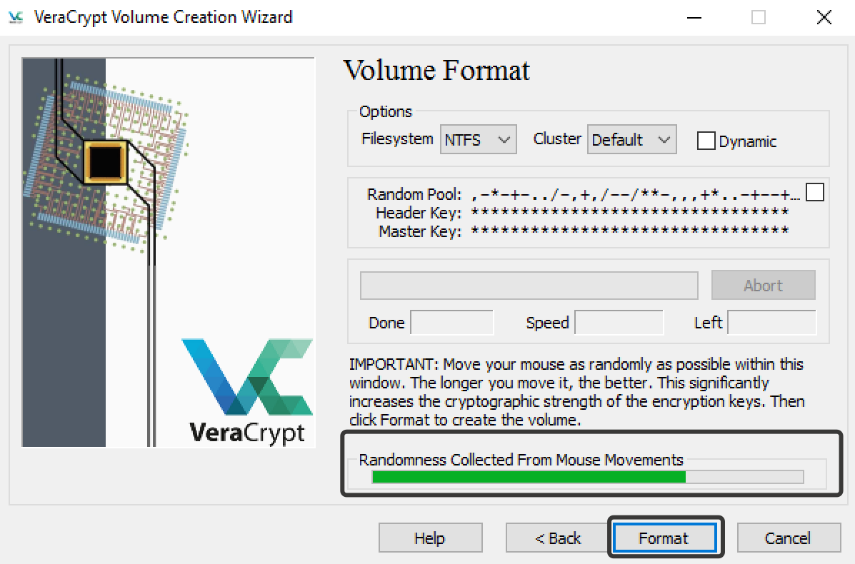 VeraCrypt creation