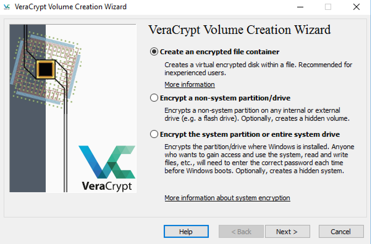 VeraCrypt encryption